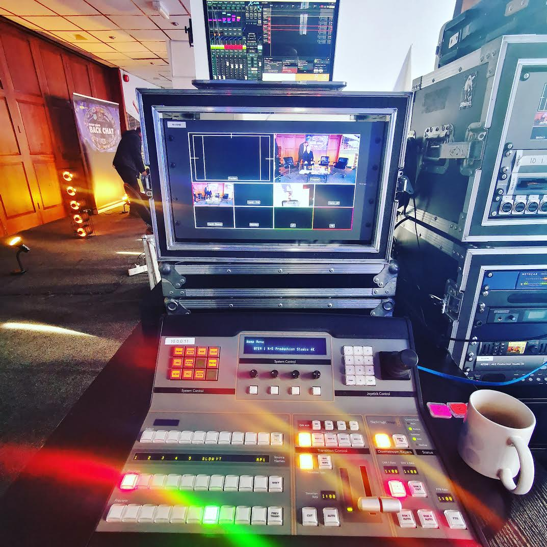 """Behind the scenes at Rugby League Back Chat with out Portable Production Unit """"PPU"""""""